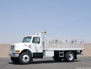 1998 International 4900 16' Flatbed Truck