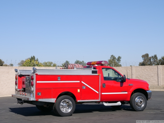 2000 Ford F550 SD 4x4 Fire Brush Truck
