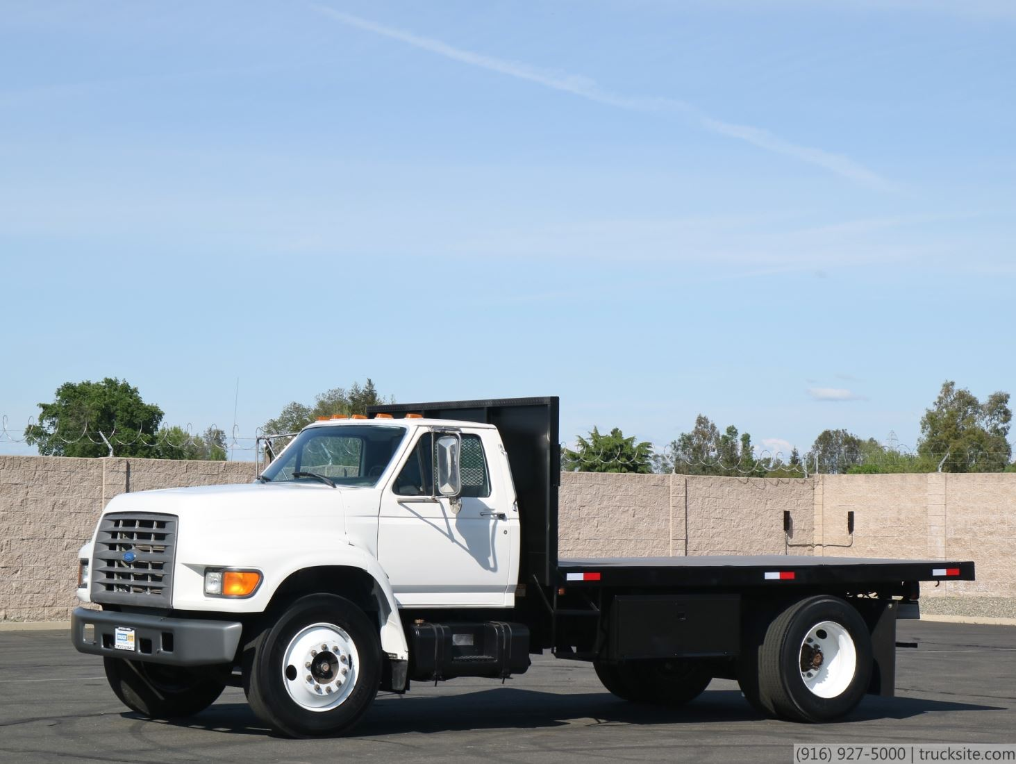 1998 Ford F800 14 Flatbed Dump Truck For Sale Trucksite Com