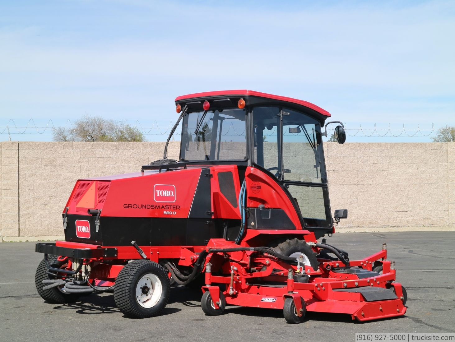 Toro Groundsmaster 580 D 4wd Riding Mower For Sale