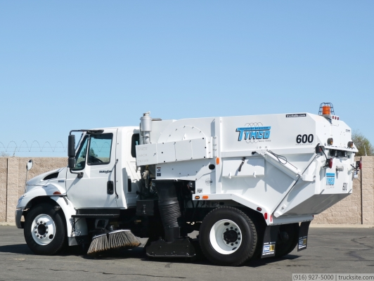 2009 International Tymco 600 Stainless Steel Air Street Sweeper