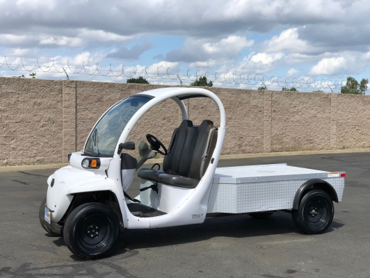 2009 GEM eLXD Two Passenger Flatbed Electric Vehicle