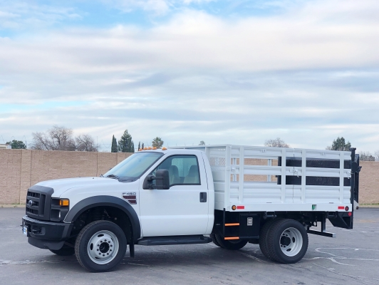 2008 Ford F450 SD 9' Flatbed Truck