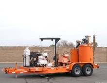 Line Master Engineering Thermoplastic Premelting Kettle Trailer