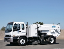 2008 Isuzu Tymco DST-6 Dustless Stainless Steel Street Sweeper