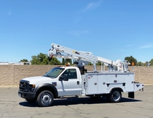 2008 Ford F550 4x4 Altec AT37G Articulating Bucket Truck