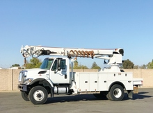 2012 International 7300 4x4 Altec DM47-TR Digger Derrick Truck